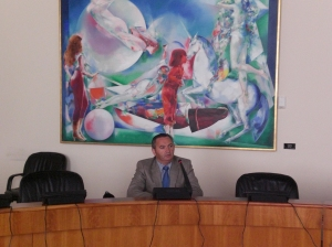 Balseiro intervindo na Sala de Comisións do Parlamento de Galicia