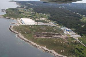 Vista aérea dunha parte do Polígono Empresarial de Cuiña en Cervo