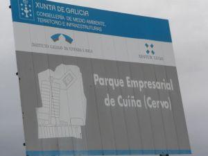 Polígono empresarial de Cuiña en Cervo