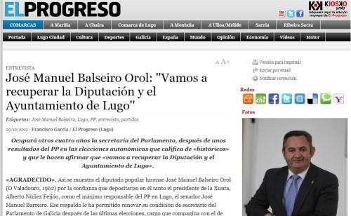 Entrevista en El Progreso