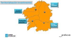 Territorialización de investimentos Orzamentos Xunta 2014